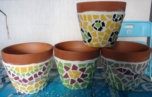 pot, mosaique